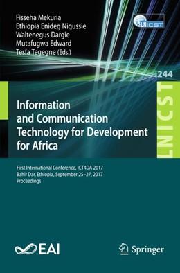 Abbildung von Mekuria / Nigussie | Information and Communication Technology for Development for Africa | 1. Auflage | 2018 | beck-shop.de