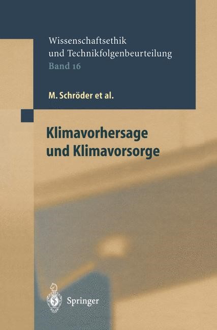 Abbildung von Schröder / Grunwald / Clausen | Klimavorhersage und Klimavorsorge | 2002