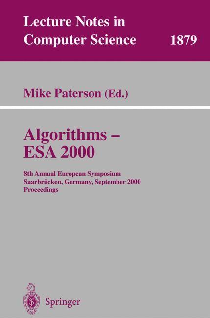 Abbildung von Paterson | Algorithms - ESA 2000 | 2000