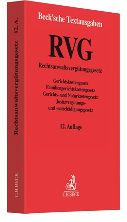 Abbildung von RVG   12. Auflage   2021   beck-shop.de