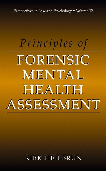 Abbildung von Heilbrun | Principles of Forensic Mental Health Assessment | 2001