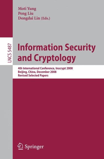 Abbildung von Yung / Liu / Lin | Information Security and Cryptology | 2009