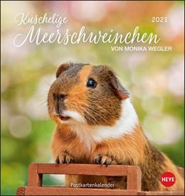 Abbildung von Meerschweinchen 2021. Postkartenkalender | 2020