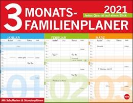Abbildung von 3-Monats Familienplaner 2021   2020   Jedes Quartal auf einen Blick