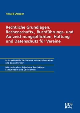 Abbildung von Dauber   Rechtliche Grundlagen, Rechenschafts-, Buchführungs- und Aufzeichnungspflichten, Haftung und Datenschutz für Vereine   1. Auflage   2021   beck-shop.de