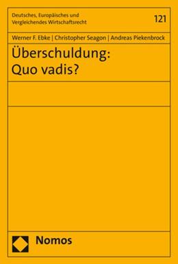 Abbildung von Ebke / Seagon | Überschuldung: Quo vadis? | 1. Auflage | 2020 | 121 | beck-shop.de