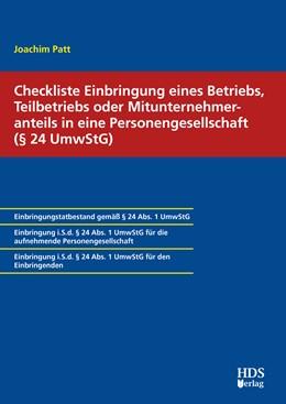 Abbildung von Patt | Checkliste Einbringung eines Betriebs, Teilbetriebs oder Mitunternehmeranteils in eine Personengesellschaft (§ 24 UmwStG) | 1. Auflage | 2020 | beck-shop.de