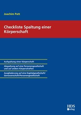 Abbildung von Patt | Checkliste Spaltung einer Körperschaft | 1. Auflage | 2020 | beck-shop.de