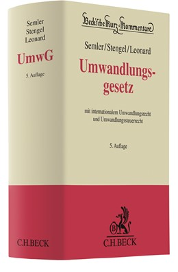 Abbildung von Semler / Stengel   Umwandlungsgesetz: UmwG   5. Auflage   2021   beck-shop.de