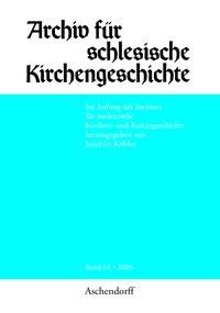 Abbildung von Köhler | Archiv für Schlesische Kirchengeschichte | 2007