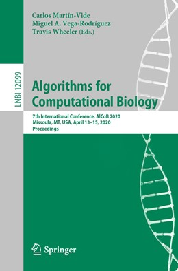 Abbildung von Martín-Vide / Vega-Rodríguez / Wheeler | Algorithms for Computational Biology | 1st ed. 2020 | 2020 | 7th International Conference, ... | 12099
