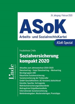 Abbildung von Höfle / Freudhofmeier   ASoK-Spezial Sozialversicherung kompakt 2020   1. Auflage 2020   2020