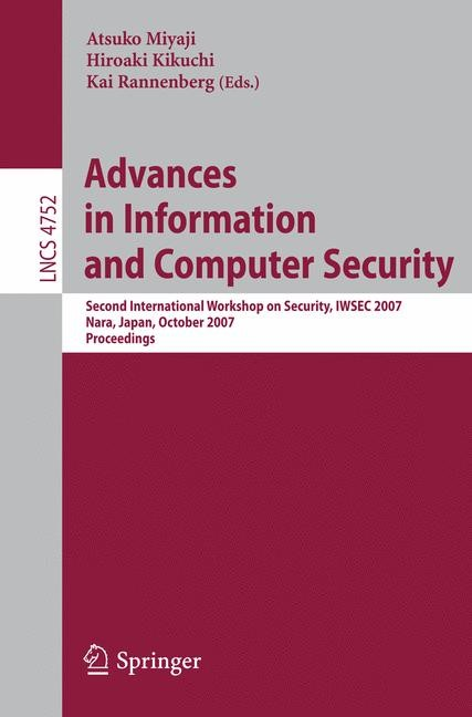 Abbildung von Kikuchi / Rannenberg   Advances in Information and Computer Security   2007
