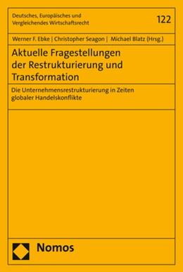 Abbildung von Ebke / Seagon | Aktuelle Fragestellungen der Restrukturierung und Transformation | 1. Auflage | 2020 | 122 | beck-shop.de