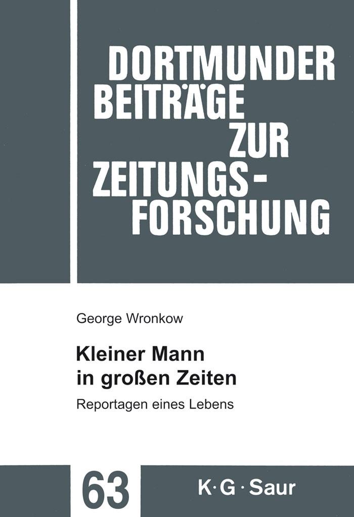 Abbildung von Wronkow / Peter   Kleiner Mann in großen Zeiten   Reprint 2014   2008