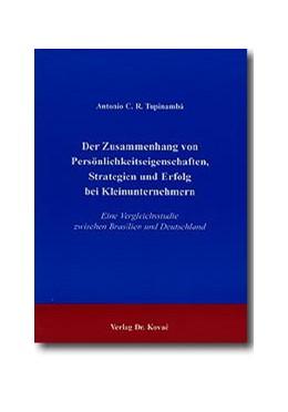 Abbildung von Tupinambá | Der Zusammenhang von Persönlichkeitseigenschaften, Strategien und Erfolg bei Kleinunternehmern | 1999 | Eine Vergleichsstudie zwischen... | 56