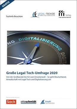 Abbildung von Große Legal Tech-Umfrage 2020 | 1. Auflage | 2020 | beck-shop.de