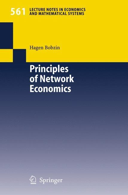 Abbildung von Bobzin | Principles of Network Economics | 2005