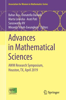 Abbildung von Acu / Danielli / Lewicka / Pati / Ramanathapuram Vancheeswara / Teboh-Ewungkem | Advances in Mathematical Sciences | 1st ed. 2020 | 2020 | AWM Research Symposium, Housto... | 21