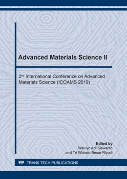 Abbildung von Siswanto / Besar Riyadi | Advanced Materials Science II | 1. Auflage | 2020 | beck-shop.de