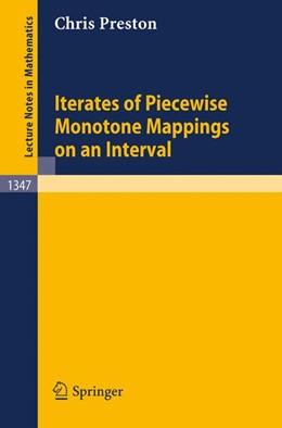 Abbildung von Preston | Iterates of Piecewise Monotone Mappings on an Interval | 1988 | 1347