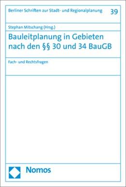 Abbildung von Mitschang | Bauleitplanung in Gebieten nach den §§ 30 und 34 BauGB | 1. Auflage | 2020 | 39 | beck-shop.de