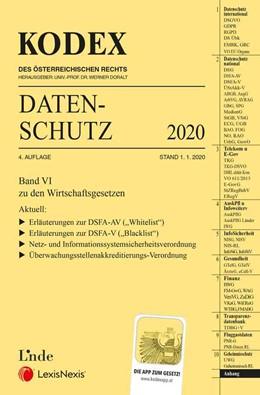 Abbildung von Pachinger / Doralt | KODEX Datenschutz 2020 | 4. Auflage | 2020 | beck-shop.de