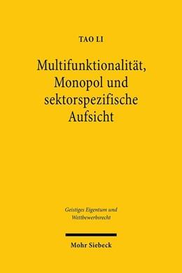 Abbildung von Li | Multifunktionalität, Monopol und sektorspezifische Aufsicht | 1. Auflage | 2020 | beck-shop.de