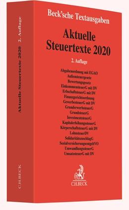 Abbildung von Aktuelle Steuertexte 2020 | 2. Auflage | 2020 | beck-shop.de
