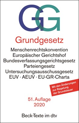 Abbildung von Grundgesetz: GG | 51. Auflage | 2020 | 5003 | beck-shop.de