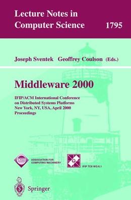 Abbildung von Sventek / Coulson | Middleware 2000 | 2000 | IFIP/ACM International Confere... | 1795