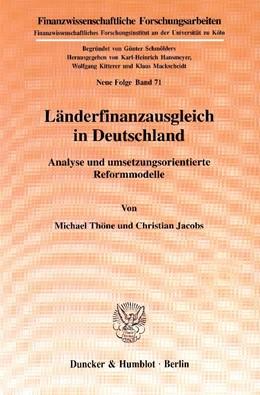 Abbildung von Thöne / Jacobs | Länderfinanzausgleich in Deutschland. | 2001