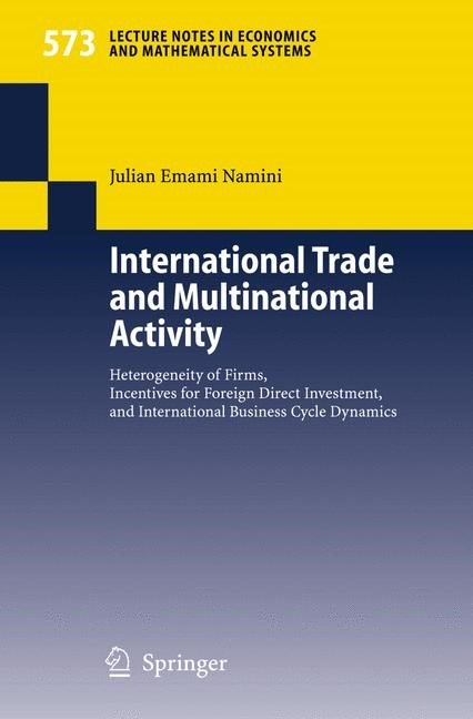 Abbildung von Emami Namini   International Trade and Multinational Activity   2006