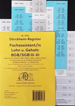 Abbildung von Dürckheim   DürckheimRegister - Fachassistent Lohn und Gehalt (ArbR-SGB) Nr. 2733 (2020)   2. Auflage   2020   beck-shop.de
