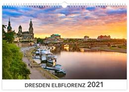 Abbildung von Dresden Elbflorenz 2021 Kalendarium weiß 45x30 cm | 2020