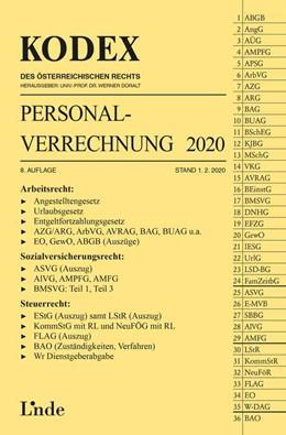 Abbildung von Hofbauer / Doralt | KODEX Personalverrechnung 2020 | 8. Auflage 2020, 1.2.2020 | 2020