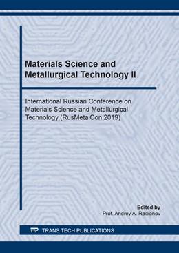 Abbildung von Radionov   Materials Science and Metallurgical Technology II   1. Auflage   2020   beck-shop.de