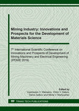 Abbildung von Maksarov / Gabov | Mining Industry: Innovations and Prospects for the Development of Materials Science | 1. Auflage | 2020 | beck-shop.de