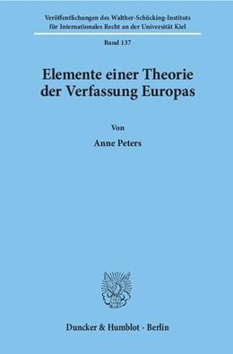 Abbildung von Peters | Elemente einer Theorie der Verfassung Europas. | 2001 | 137