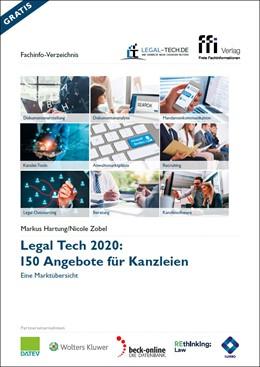 Abbildung von Hartung / Zobel   Legal Tech 2020: 150 Angebote für Kanzleien   1. Auflage   2020   beck-shop.de