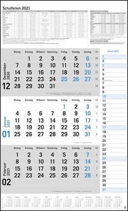 Abbildung von Heye | 3-Monats-Planer Klappfälzel Kalender 2021 | 1. Auflage | 2020 | beck-shop.de