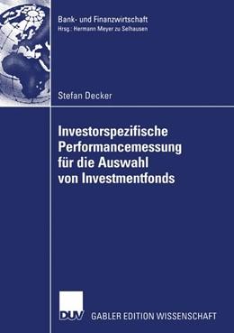 Abbildung von Decker | Investorspezifische Performancemessung für die Auswahl von Investmentfonds | 2005