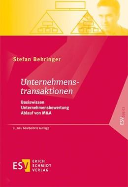 Abbildung von Behringer   Unternehmenstransaktionen   2., neu bearbeitete Auflage   2020   Basiswissen – Unternehmensbewe...