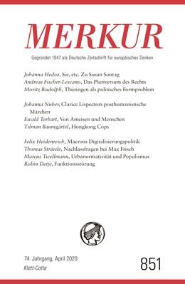 Abbildung von Demand | MERKUR Gegründet 1947 als Deutsche Zeitschrift für europäisches Denken - Nr. 851, Heft 04 / April 2020 | 1. Auflage | 2020 | beck-shop.de