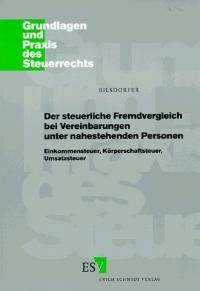 Abbildung von Bilsdorfer | Der steuerliche Fremdvergleich bei Vereinbarungen unter nahestehenden Personen | 1996