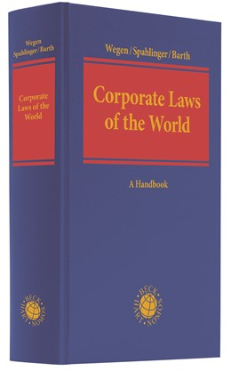 Abbildung von Wegen / Spahlinger / Barth (eds.) | Corporate Laws of the World | 2020