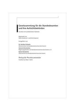 Abbildung von Schmitz / Bornhofen / Bockstette | Gesetzsammlung für die Standesbeamten und ihre Aufsichtsbehörden | 57. Lieferung 2020 | 2020 | 57. Lieferung