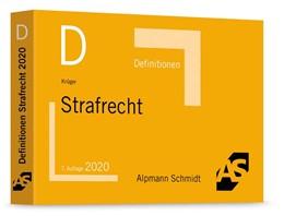 Abbildung von Krüger | Definitionen Strafrecht | 7. Auflage | 2020 | beck-shop.de
