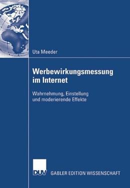 Abbildung von Meeder | Werbewirkungsmessung im Internet | 2007 | Wahrnehmung, Einstellung und m...