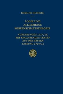 Abbildung von Husserl / Panzer | Logik und Allgemeine Wissenschaftstheorie | 1996 | Vorlesungen 1917/18, mit ergän... | 30